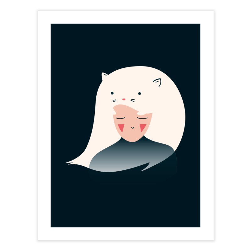 Cat in the Hairt Home Fine Art Print by agrimony // Aaron Thong