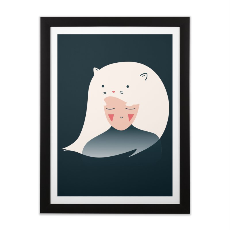 Cat in the Hairt Home Framed Fine Art Print by agrimony // Aaron Thong