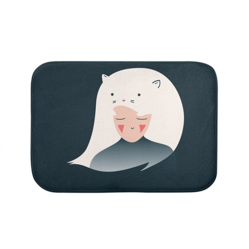 Cat in the Hairt Home Bath Mat by agrimony // Aaron Thong
