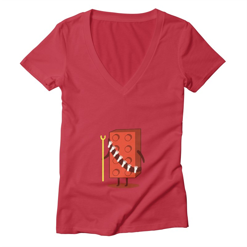 Foothunter Women's V-Neck by agrimony // Aaron Thong