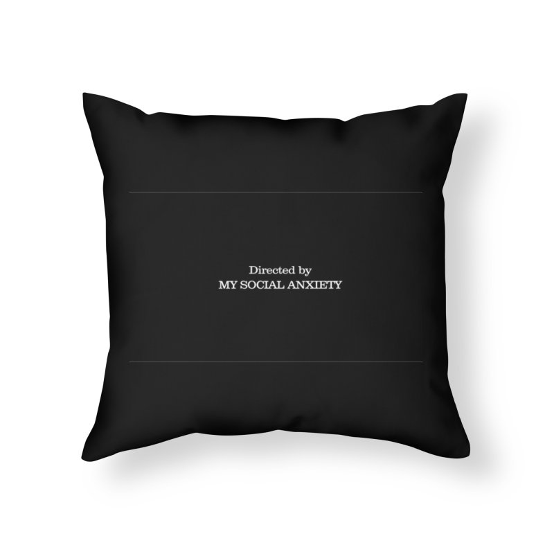 Directed By Home Throw Pillow by agrimony // Aaron Thong
