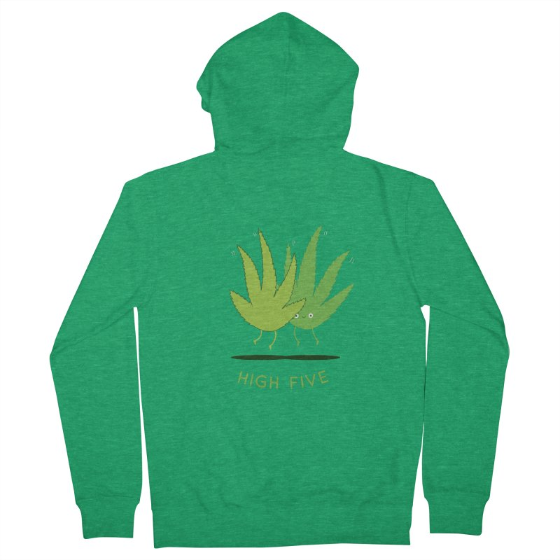 High Five Men's Zip-Up Hoody by agrimony // Aaron Thong