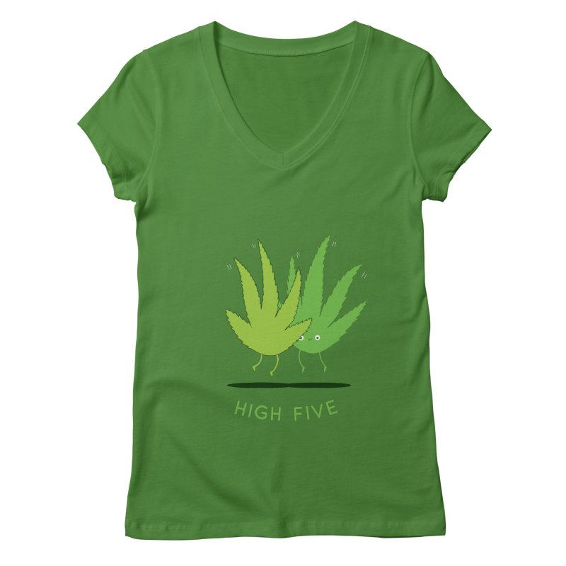 High Five Women's V-Neck by agrimony // Aaron Thong