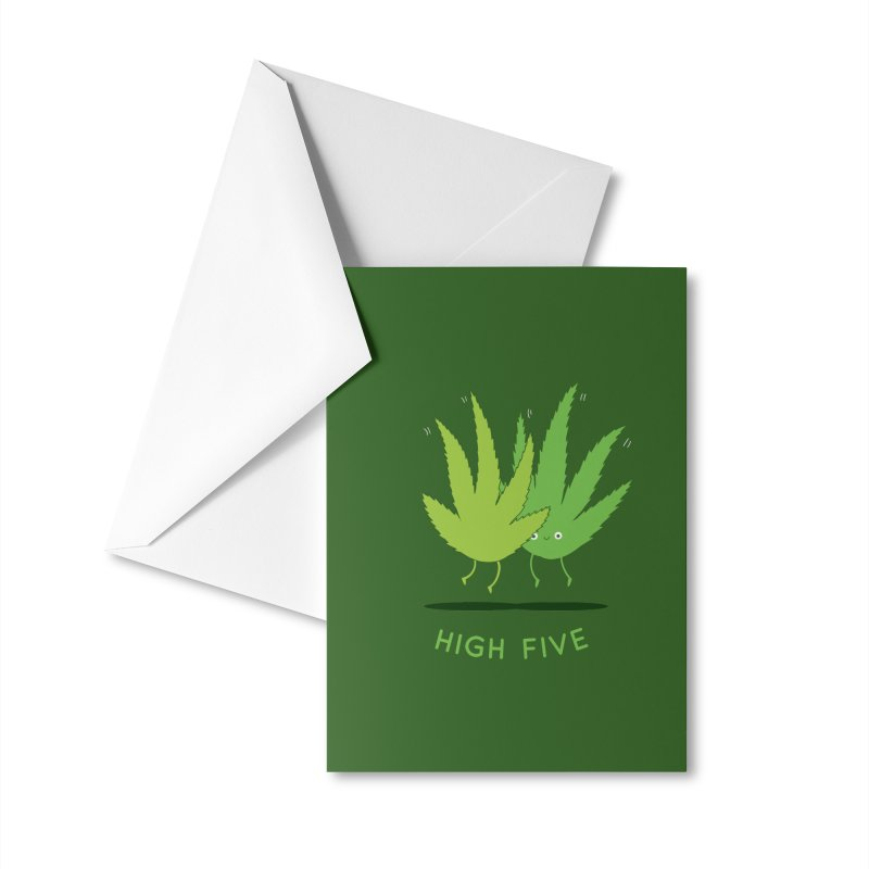 High Five Accessories Greeting Card by agrimony // Aaron Thong