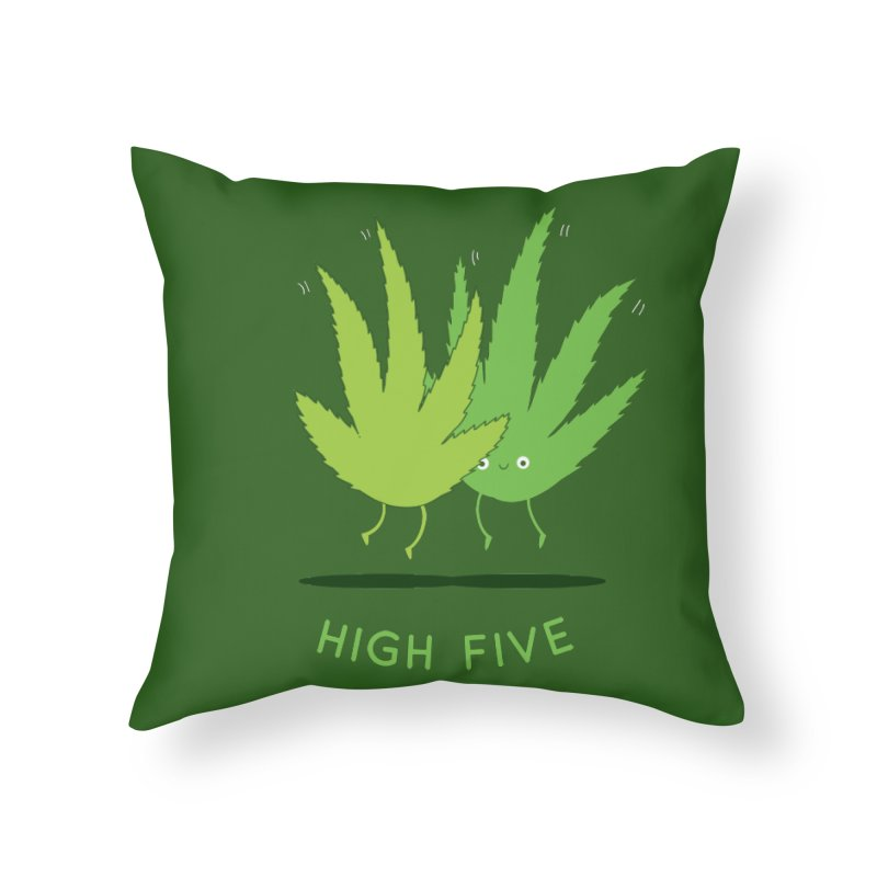 High Five Home Throw Pillow by agrimony // Aaron Thong