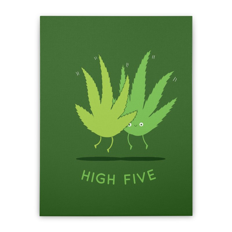 High Five Home Stretched Canvas by agrimony // Aaron Thong