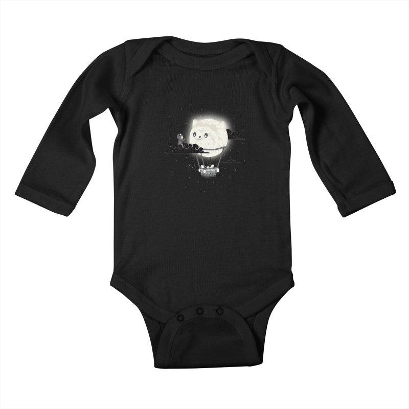 Did You See the Mewn in Flight Kids Baby Longsleeve Bodysuit by agrimony // Aaron Thong