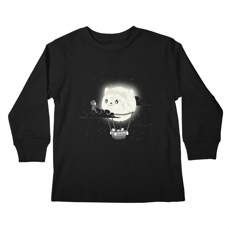 Did You See the Mewn in Flight Kids Longsleeve T-Shirt by agrimony // Aaron Thong