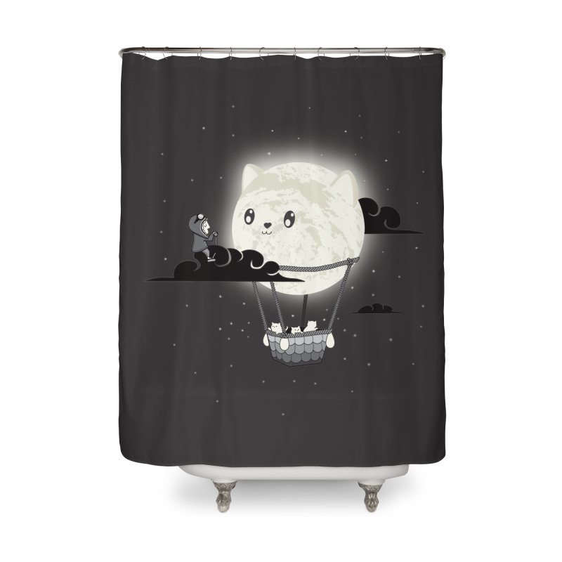 Did You See the Mewn in Flight Home Shower Curtain by agrimony // Aaron Thong