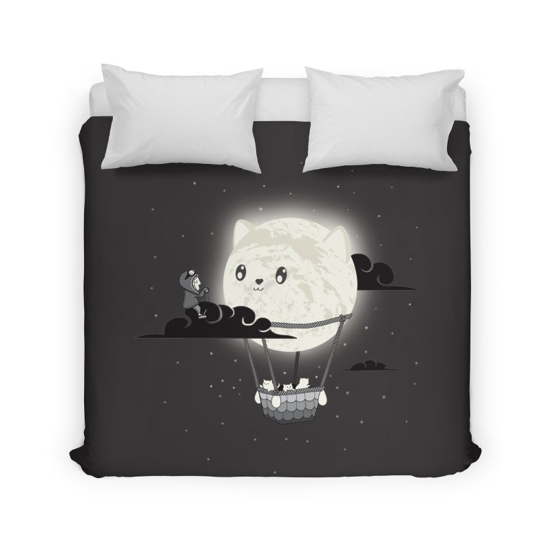 Did You See the Mewn in Flight Home Duvet by agrimony // Aaron Thong