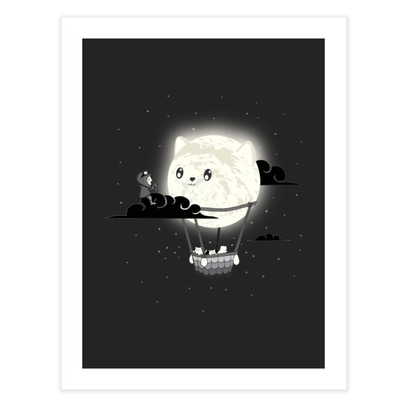 Did You See the Mewn in Flight Home Fine Art Print by agrimony // Aaron Thong