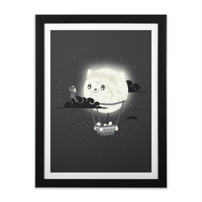 Did You See the Mewn in Flight Home Framed Fine Art Print by agrimony // Aaron Thong