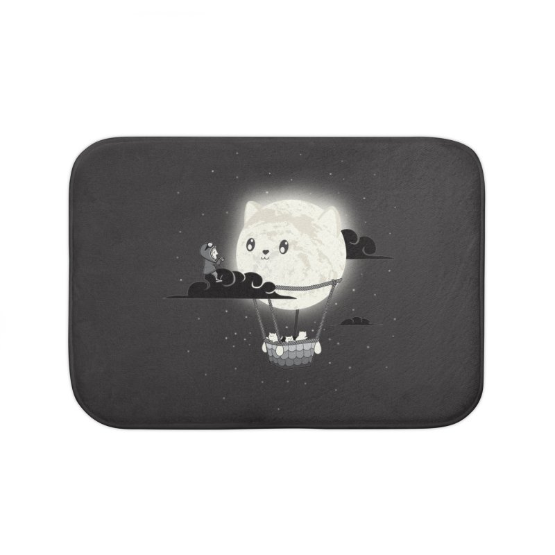 Did You See the Mewn in Flight Home Bath Mat by agrimony // Aaron Thong