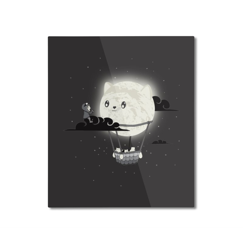 Did You See the Mewn in Flight Home Mounted Aluminum Print by agrimony // Aaron Thong