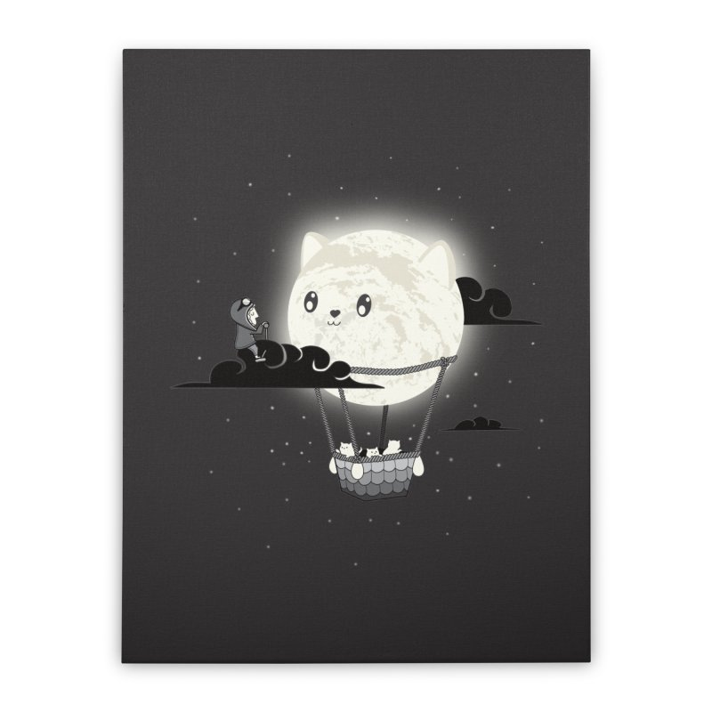 Did You See the Mewn in Flight Home Stretched Canvas by agrimony // Aaron Thong