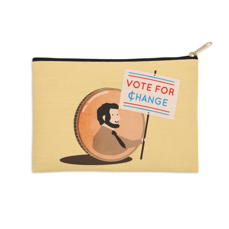 Vote for Change Accessories Zip Pouch by agrimony // Aaron Thong