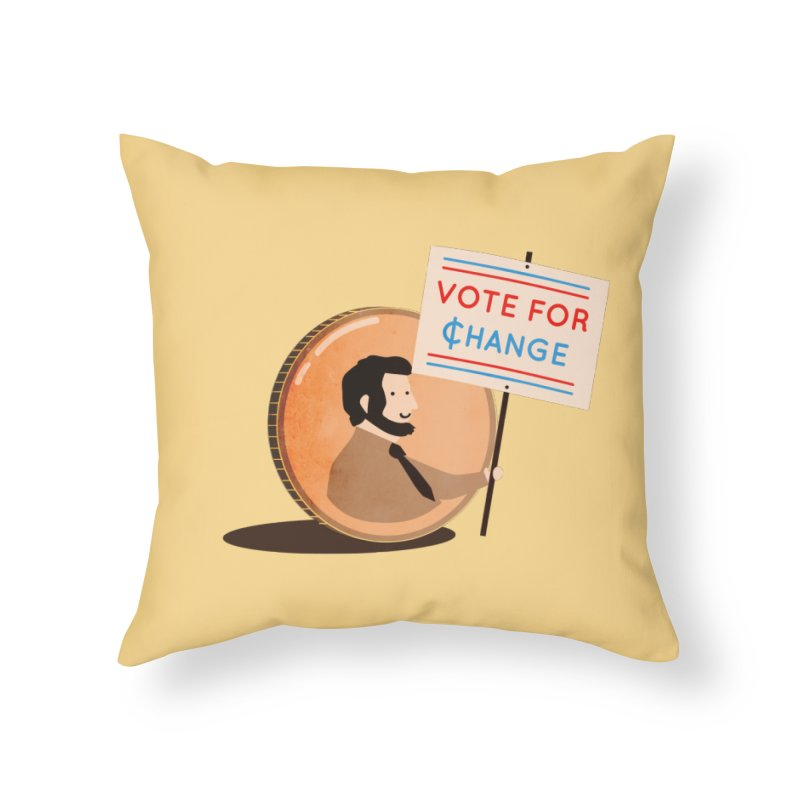 Vote for Change Home Throw Pillow by agrimony // Aaron Thong