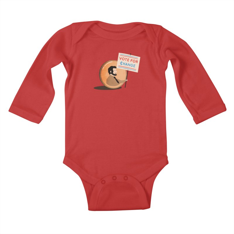 Vote for Change Kids Baby Longsleeve Bodysuit by agrimony // Aaron Thong