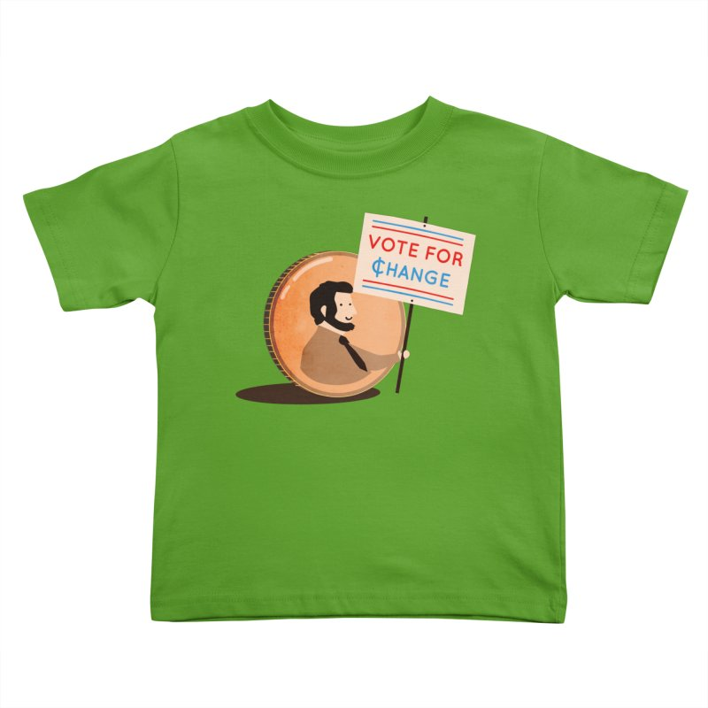Vote for Change Kids Toddler T-Shirt by agrimony // Aaron Thong