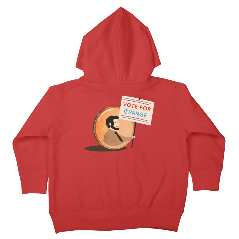 Vote for Change Kids Toddler Zip-Up Hoody by agrimony // Aaron Thong