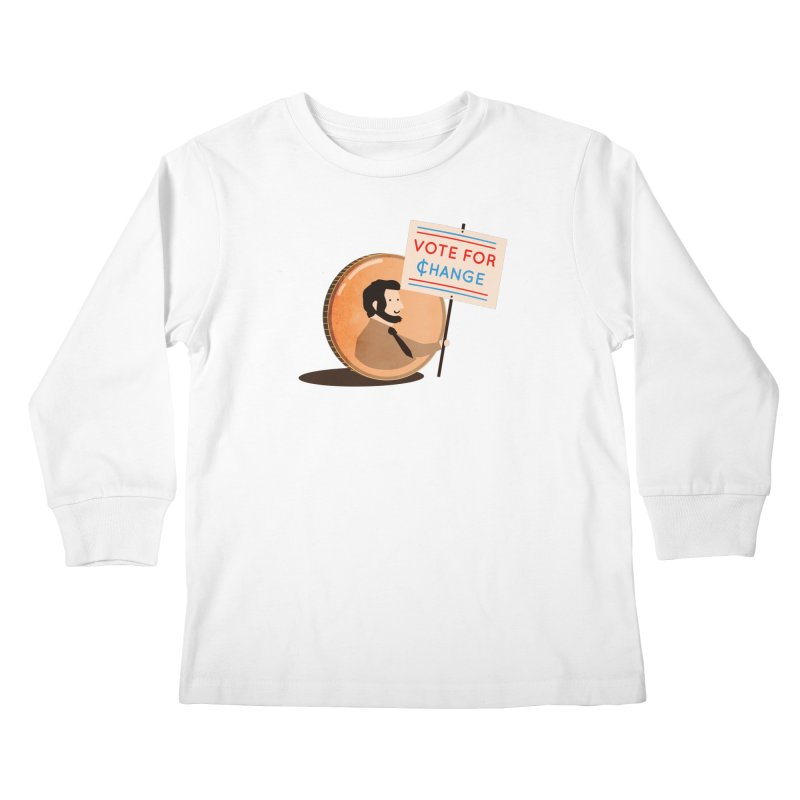 Vote for Change Kids Longsleeve T-Shirt by agrimony // Aaron Thong
