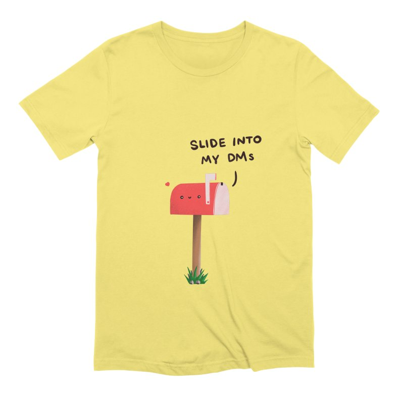 Slide Into My DMs Men's T-Shirt by agrimony // Aaron Thong