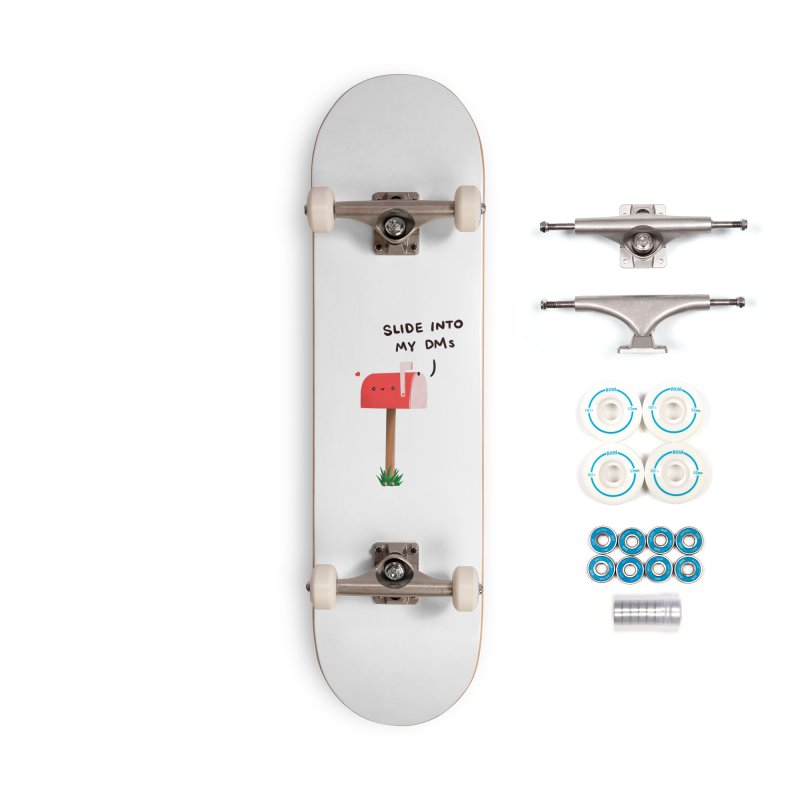 Slide Into My DMs Accessories Skateboard by agrimony // Aaron Thong