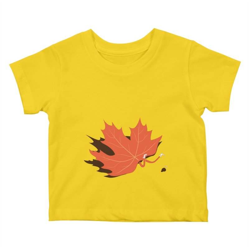 Fall Kids Baby T-Shirt by agrimony // Aaron Thong
