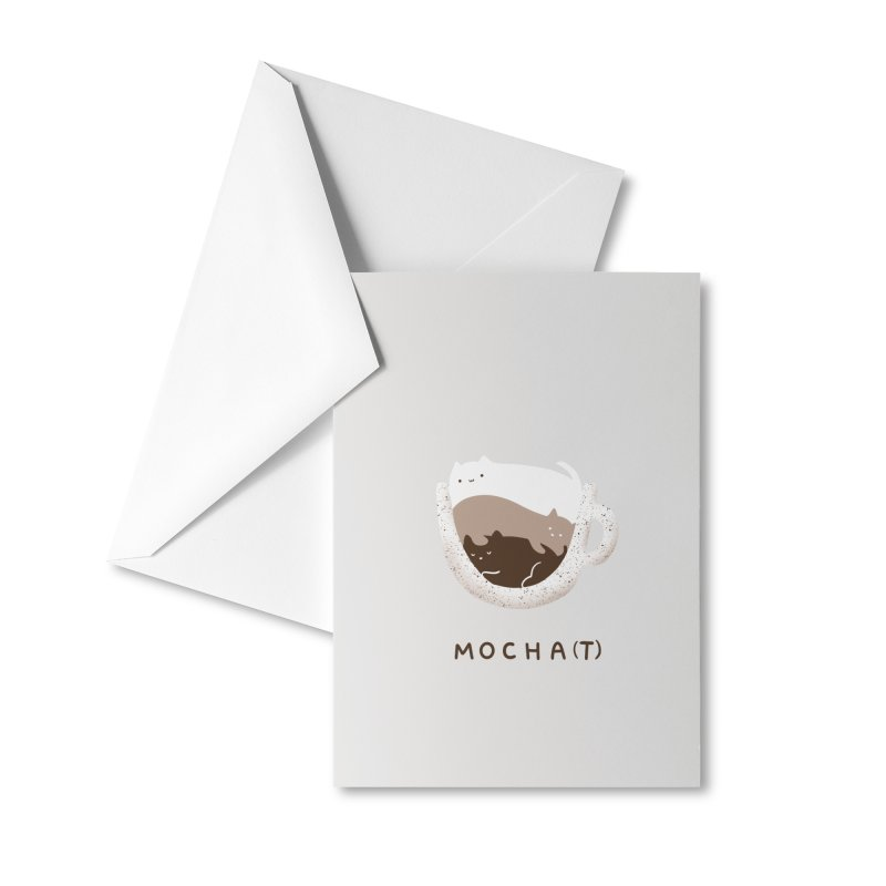Mochat Accessories Greeting Card by agrimony // Aaron Thong
