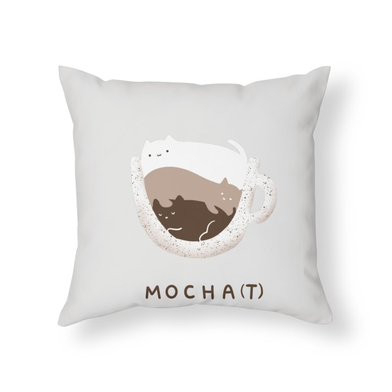 Mochat Home Throw Pillow by agrimony // Aaron Thong
