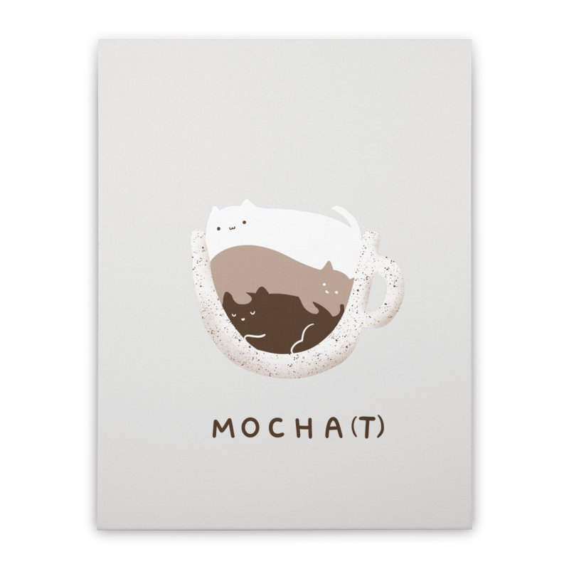 Mochat Home Stretched Canvas by agrimony // Aaron Thong