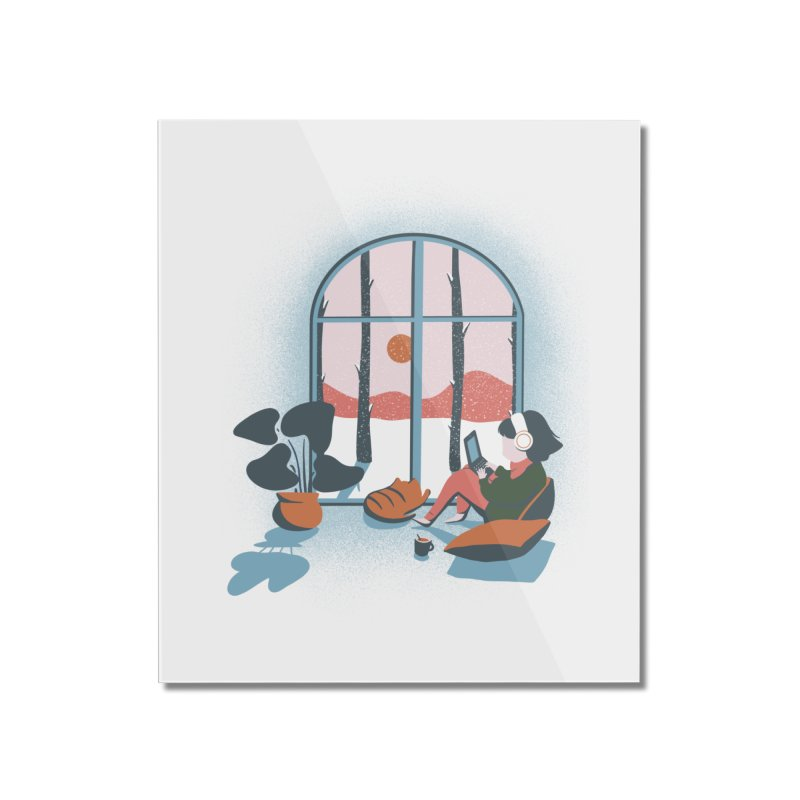 LoFi Hygge Beats to Cuddle Up To Home Mounted Acrylic Print by agrimony // Aaron Thong
