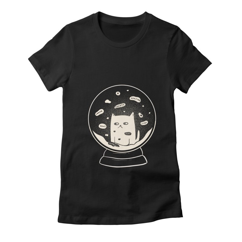 Millenial Snow(flake) Globe Women's T-Shirt by agrimony // Aaron Thong