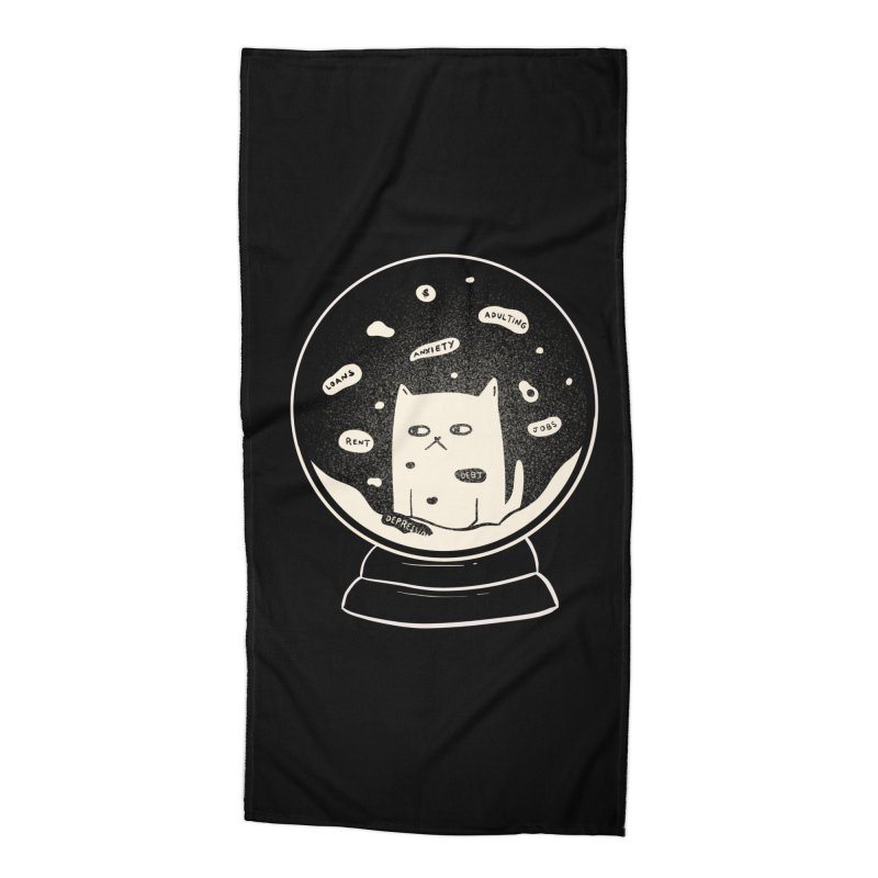Millenial Snow(flake) Globe Accessories Beach Towel by agrimony // Aaron Thong