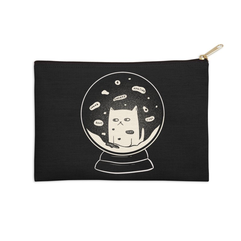 Millenial Snow(flake) Globe Accessories Zip Pouch by agrimony // Aaron Thong