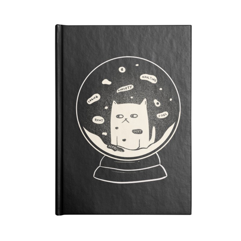 Millenial Snow(flake) Globe Accessories Notebook by agrimony // Aaron Thong