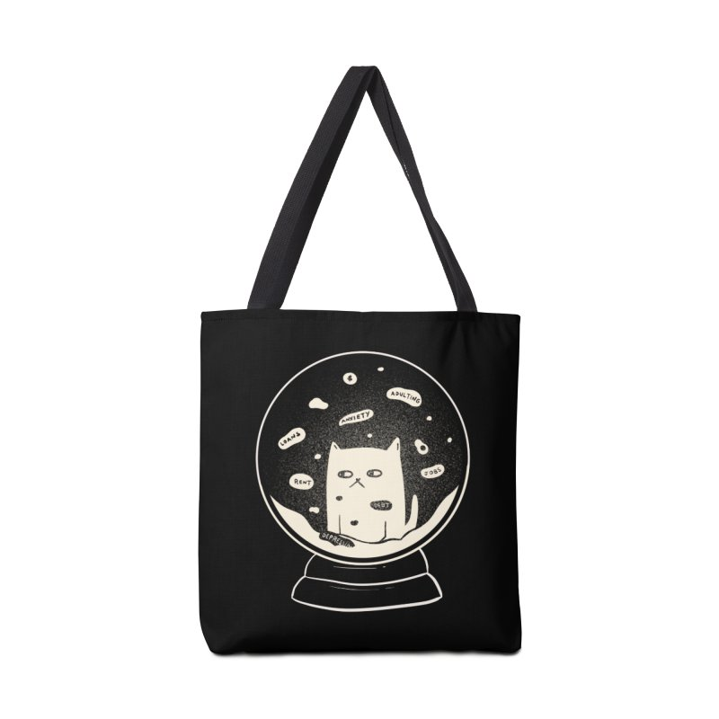 Millenial Snow(flake) Globe Accessories Bag by agrimony // Aaron Thong