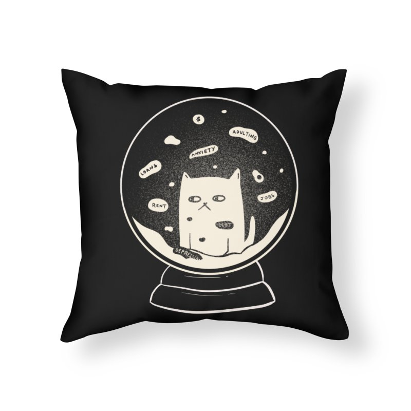 Millenial Snow(flake) Globe Home Throw Pillow by agrimony // Aaron Thong