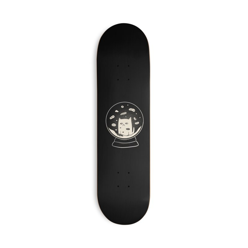 Millenial Snow(flake) Globe Accessories Skateboard by agrimony // Aaron Thong