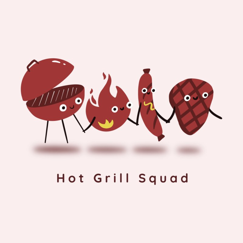 Hot Grill Squad Accessories Magnet by agrimony // Aaron Thong