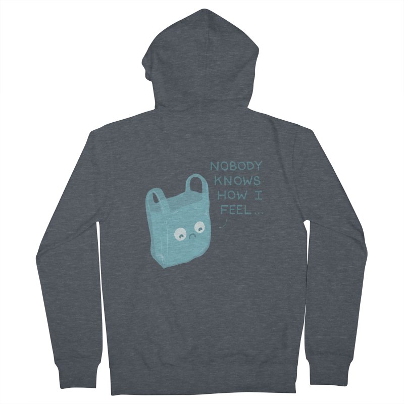 Do you ever feel Women's Zip-Up Hoody by agrimony // Aaron Thong