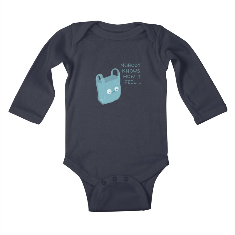Do you ever feel Kids Baby Longsleeve Bodysuit by agrimony // Aaron Thong