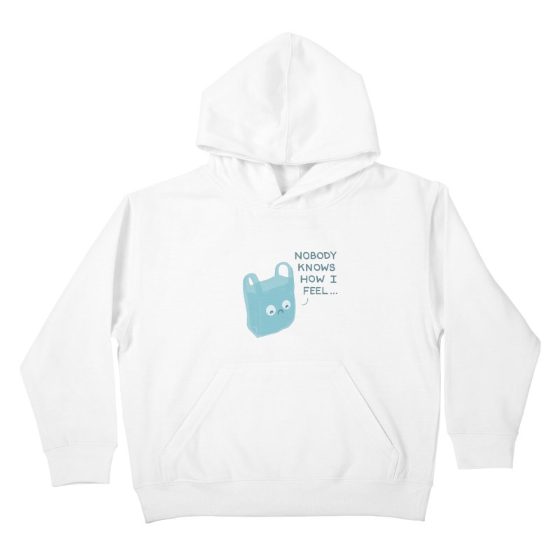Do you ever feel Kids Pullover Hoody by agrimony // Aaron Thong