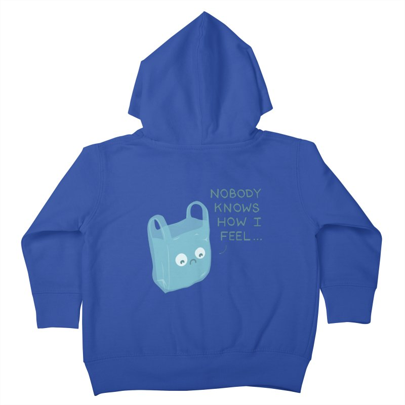 Do you ever feel Kids Toddler Zip-Up Hoody by agrimony // Aaron Thong