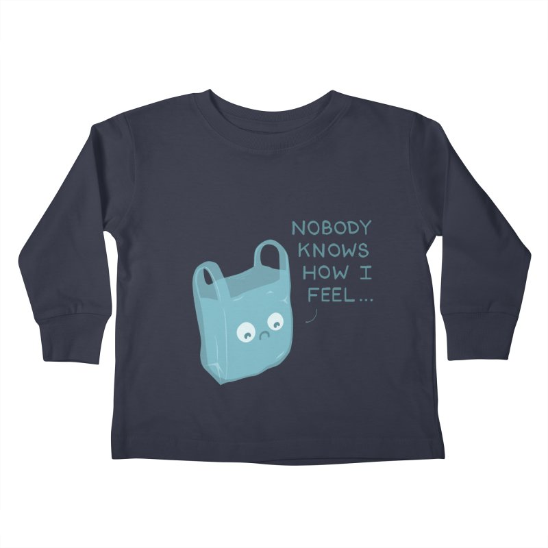 Do you ever feel Kids Toddler Longsleeve T-Shirt by agrimony // Aaron Thong