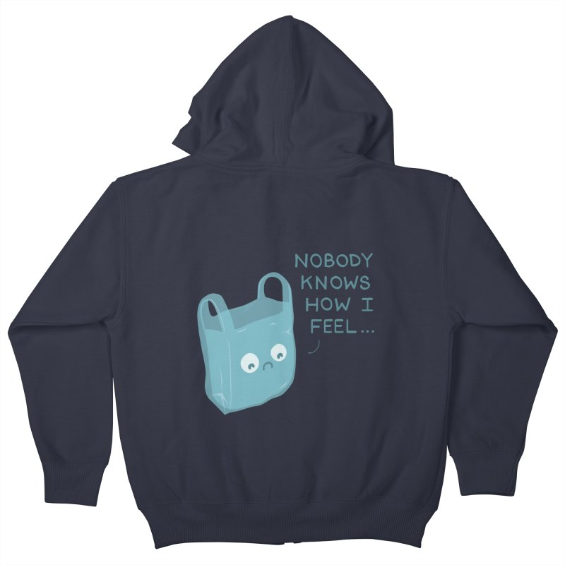 Do you ever feel Kids Zip-Up Hoody by agrimony // Aaron Thong