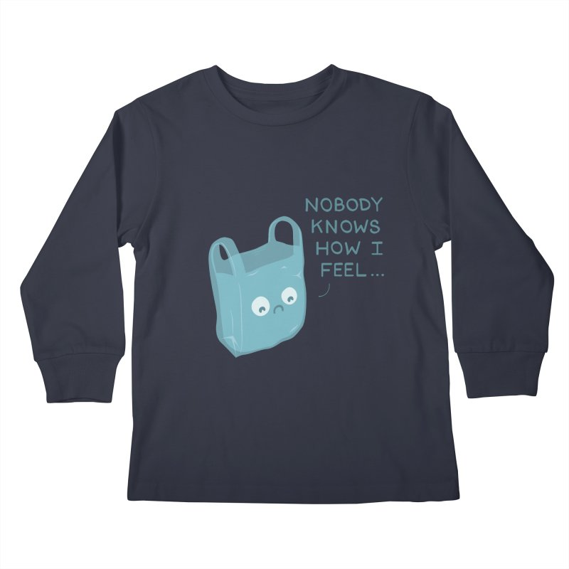 Do you ever feel Kids Longsleeve T-Shirt by agrimony // Aaron Thong