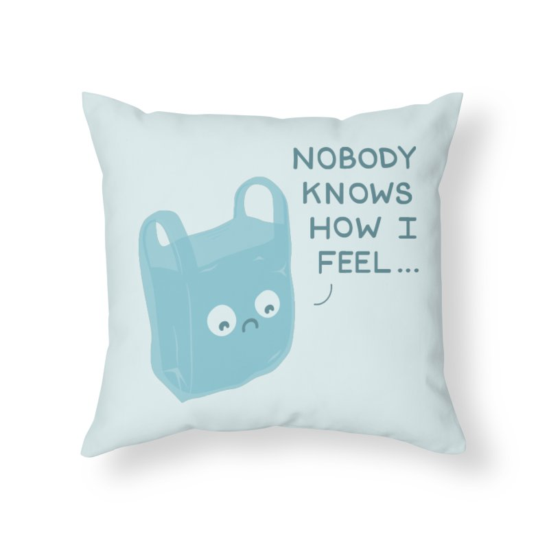 Do you ever feel Home Throw Pillow by agrimony // Aaron Thong