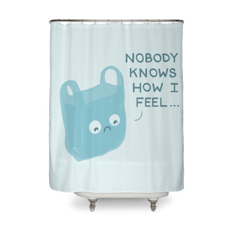 Do you ever feel Home Shower Curtain by agrimony // Aaron Thong