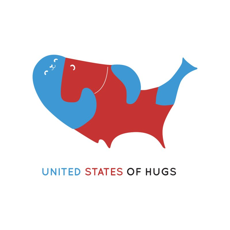 United States of Hugs Accessories Button by agrimony // Aaron Thong